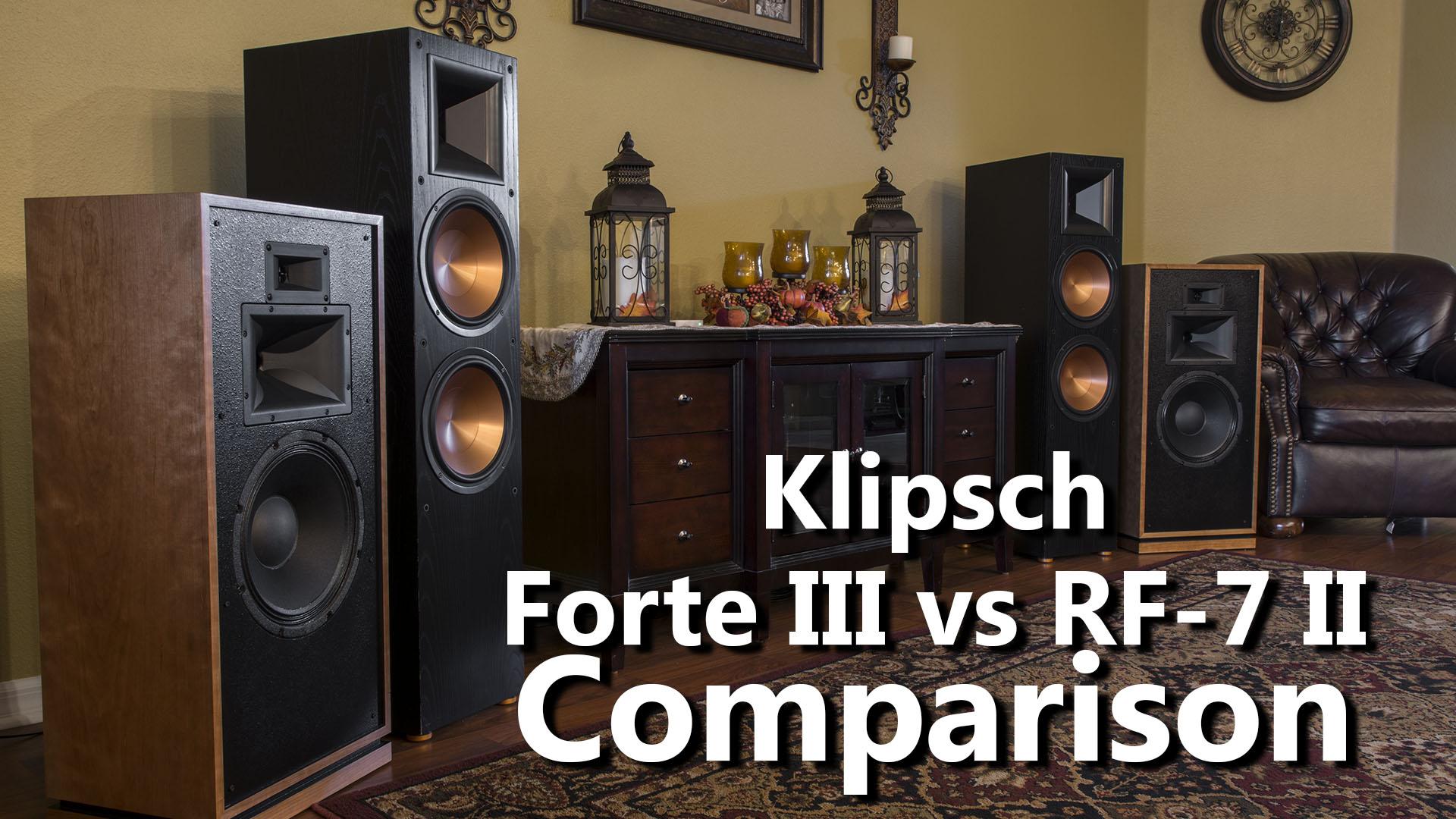 Klipsch Forte III vs RF-7 II Audio Demo Comparison - 2